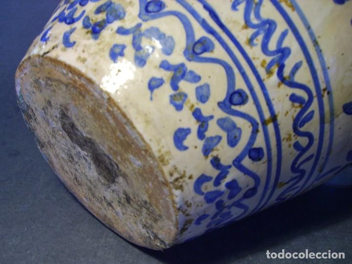 Antigüedades: GRAN JARRÓN CERÁMICA DE TALAVERA XIX - Foto 12 - 139744194