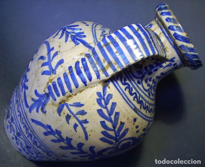 Antigüedades: GRAN JARRÓN CERÁMICA DE TALAVERA XIX - Foto 13 - 139744194