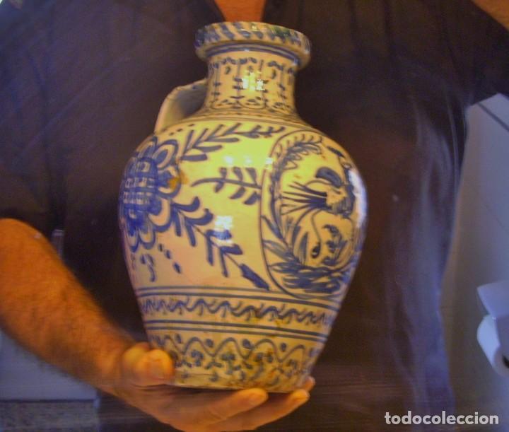 Antigüedades: GRAN JARRÓN CERÁMICA DE TALAVERA XIX - Foto 15 - 139744194