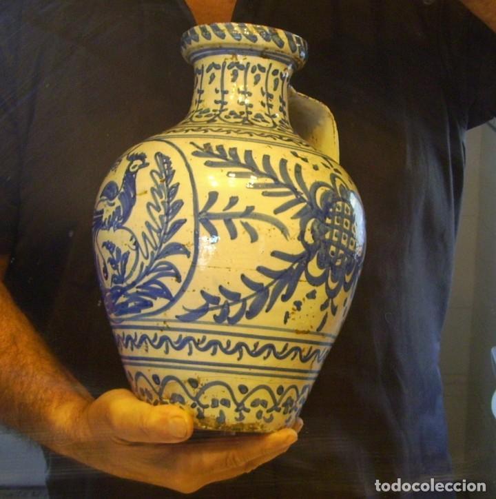 Antigüedades: GRAN JARRÓN CERÁMICA DE TALAVERA XIX - Foto 16 - 139744194