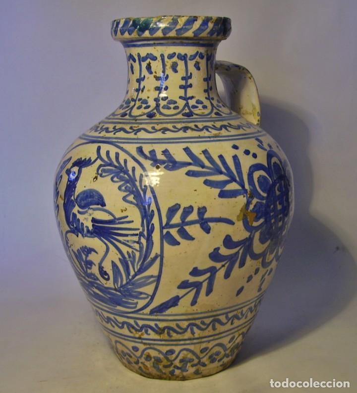 Antigüedades: GRAN JARRÓN CERÁMICA DE TALAVERA XIX - Foto 17 - 139744194