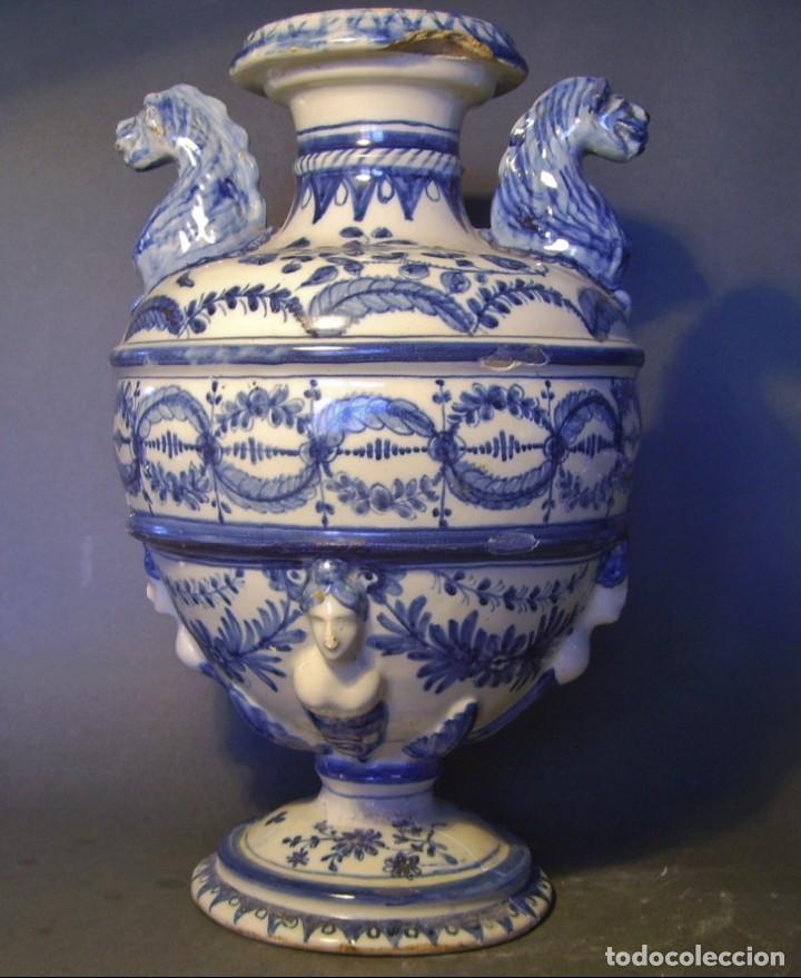 GRAN Y ROTUNDO JARRÓN CERÁMICA DE TALAVERA XIX-XX (Antigüedades - Porcelanas y Cerámicas - Talavera)