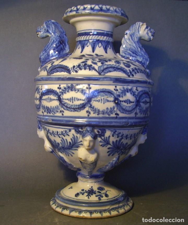 Antigüedades: GRAN Y ROTUNDO JARRÓN CERÁMICA DE TALAVERA XIX-XX - Foto 2 - 139746554