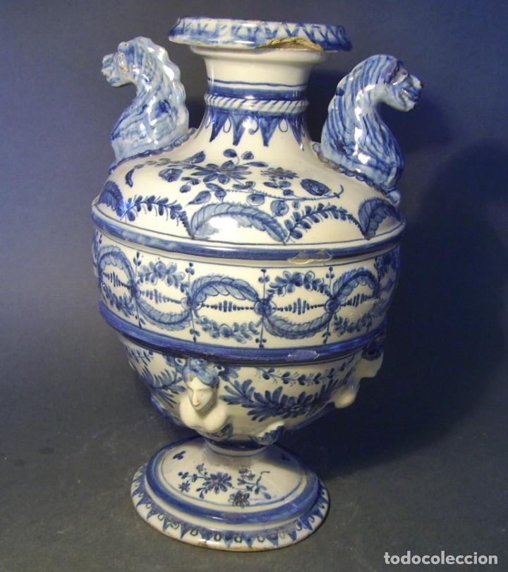 Antigüedades: GRAN Y ROTUNDO JARRÓN CERÁMICA DE TALAVERA XIX-XX - Foto 4 - 139746554