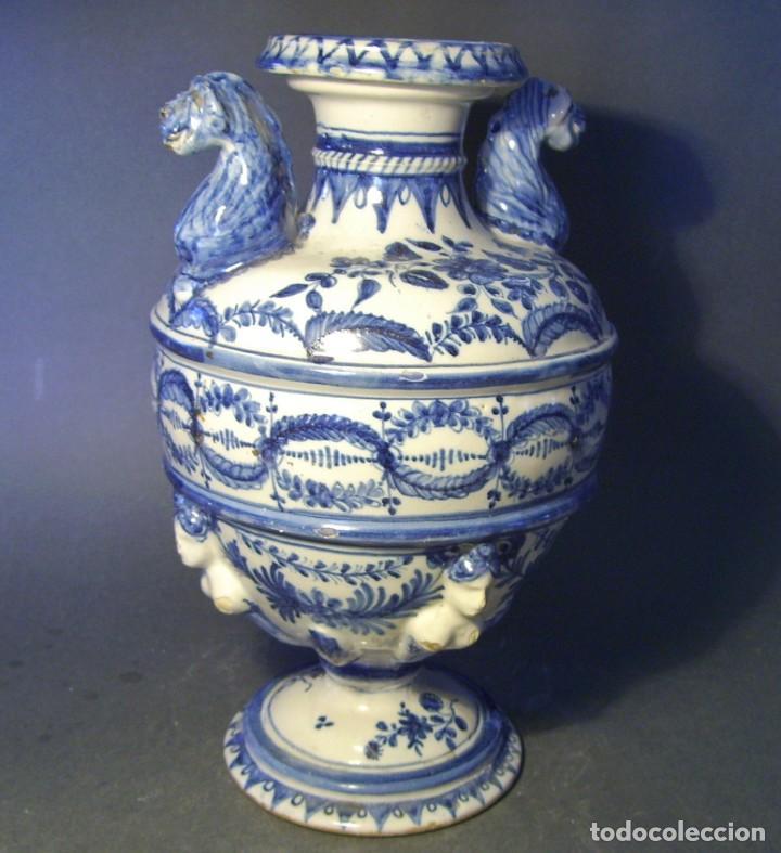 Antigüedades: GRAN Y ROTUNDO JARRÓN CERÁMICA DE TALAVERA XIX-XX - Foto 5 - 139746554