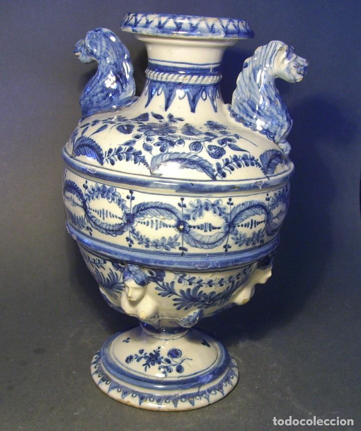 Antigüedades: GRAN Y ROTUNDO JARRÓN CERÁMICA DE TALAVERA XIX-XX - Foto 6 - 139746554