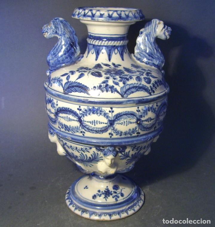 Antigüedades: GRAN Y ROTUNDO JARRÓN CERÁMICA DE TALAVERA XIX-XX - Foto 7 - 139746554