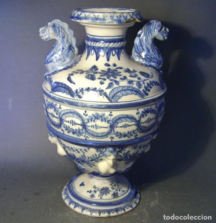 Antigüedades: GRAN Y ROTUNDO JARRÓN CERÁMICA DE TALAVERA XIX-XX - Foto 8 - 139746554
