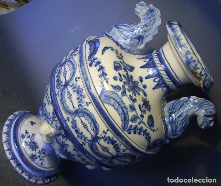 Antigüedades: GRAN Y ROTUNDO JARRÓN CERÁMICA DE TALAVERA XIX-XX - Foto 9 - 139746554