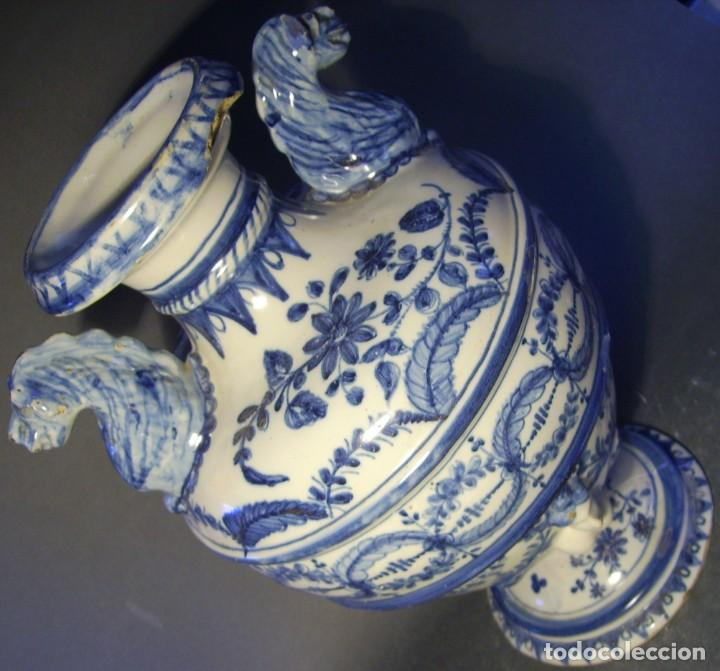 Antigüedades: GRAN Y ROTUNDO JARRÓN CERÁMICA DE TALAVERA XIX-XX - Foto 10 - 139746554