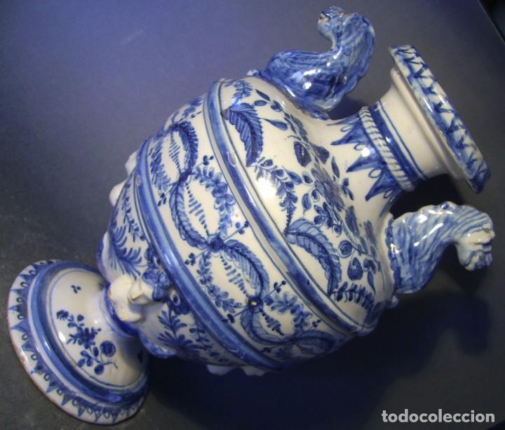 Antigüedades: GRAN Y ROTUNDO JARRÓN CERÁMICA DE TALAVERA XIX-XX - Foto 11 - 139746554