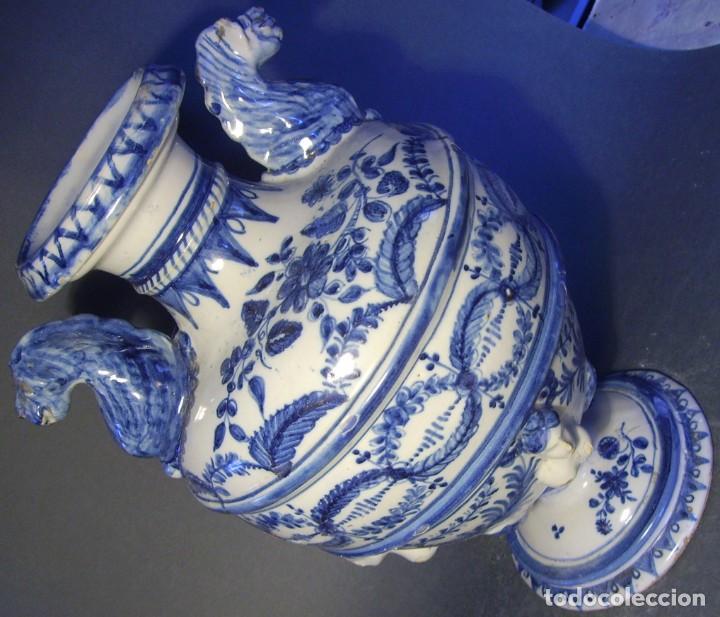 Antigüedades: GRAN Y ROTUNDO JARRÓN CERÁMICA DE TALAVERA XIX-XX - Foto 12 - 139746554