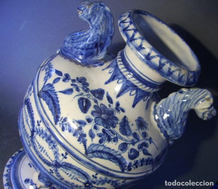 Antigüedades: GRAN Y ROTUNDO JARRÓN CERÁMICA DE TALAVERA XIX-XX - Foto 13 - 139746554