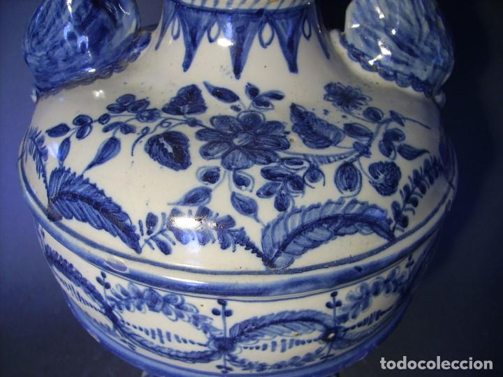 Antigüedades: GRAN Y ROTUNDO JARRÓN CERÁMICA DE TALAVERA XIX-XX - Foto 14 - 139746554