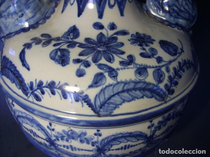Antigüedades: GRAN Y ROTUNDO JARRÓN CERÁMICA DE TALAVERA XIX-XX - Foto 15 - 139746554