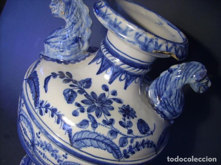 Antigüedades: GRAN Y ROTUNDO JARRÓN CERÁMICA DE TALAVERA XIX-XX - Foto 16 - 139746554