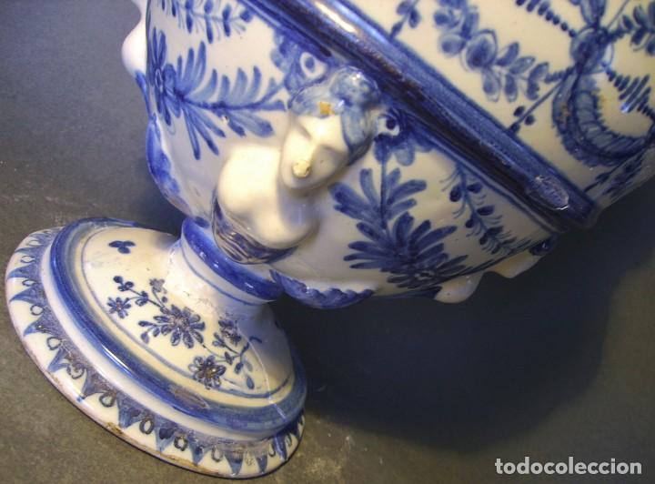 Antigüedades: GRAN Y ROTUNDO JARRÓN CERÁMICA DE TALAVERA XIX-XX - Foto 17 - 139746554