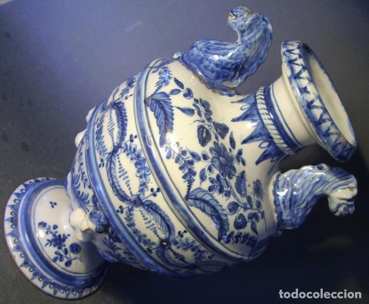 Antigüedades: GRAN Y ROTUNDO JARRÓN CERÁMICA DE TALAVERA XIX-XX - Foto 18 - 139746554