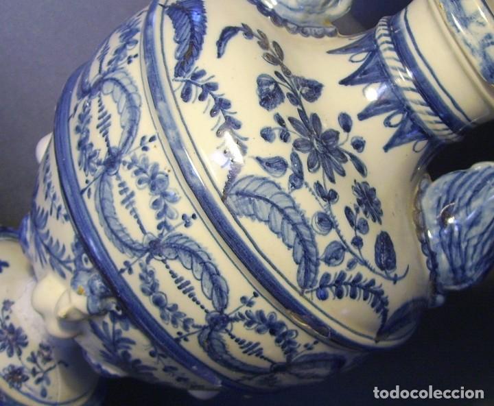 Antigüedades: GRAN Y ROTUNDO JARRÓN CERÁMICA DE TALAVERA XIX-XX - Foto 19 - 139746554