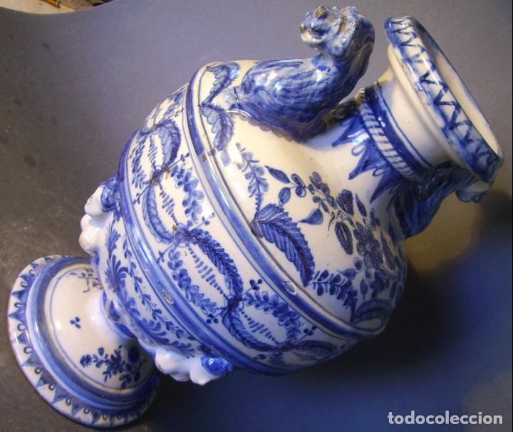 Antigüedades: GRAN Y ROTUNDO JARRÓN CERÁMICA DE TALAVERA XIX-XX - Foto 20 - 139746554