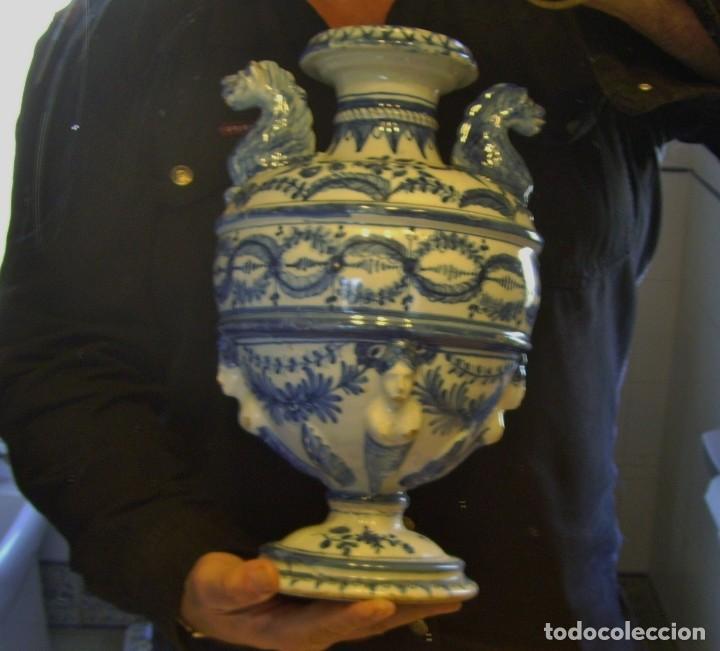 Antigüedades: GRAN Y ROTUNDO JARRÓN CERÁMICA DE TALAVERA XIX-XX - Foto 24 - 139746554