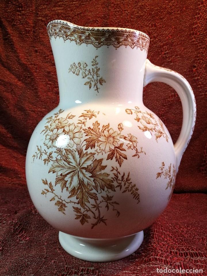 Antigüedades: jarra de agua aguamanil en porcelana holandesa societe ceramique Maestrich -dahlia bruin 1890-1910 - Foto 2 - 139752106