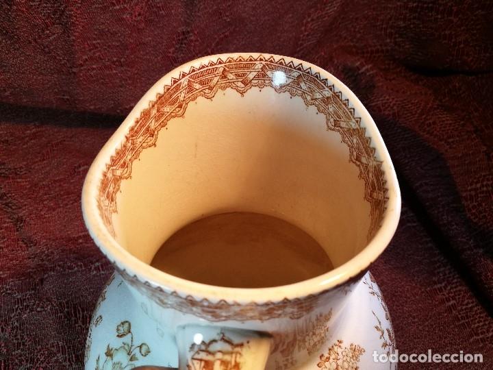 Antigüedades: jarra de agua aguamanil en porcelana holandesa societe ceramique Maestrich -dahlia bruin 1890-1910 - Foto 6 - 139752106