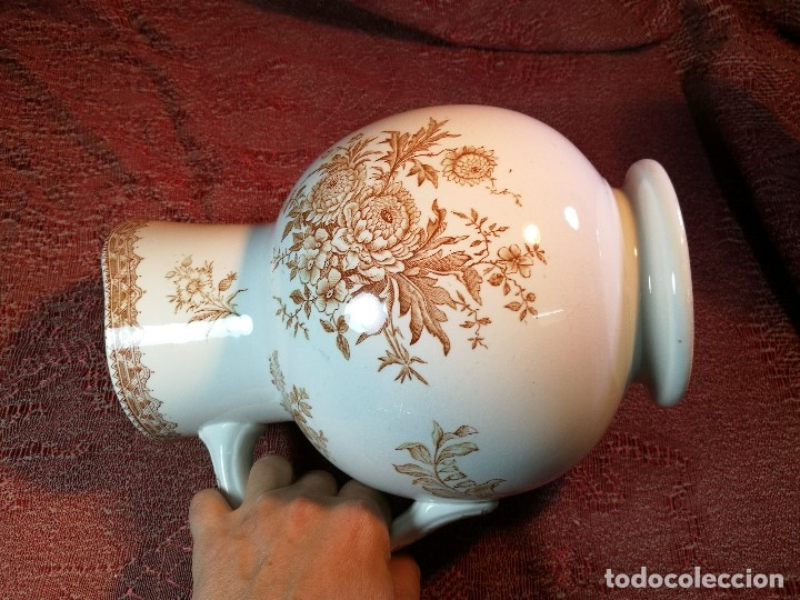 Antigüedades: jarra de agua aguamanil en porcelana holandesa societe ceramique Maestrich -dahlia bruin 1890-1910 - Foto 11 - 139752106