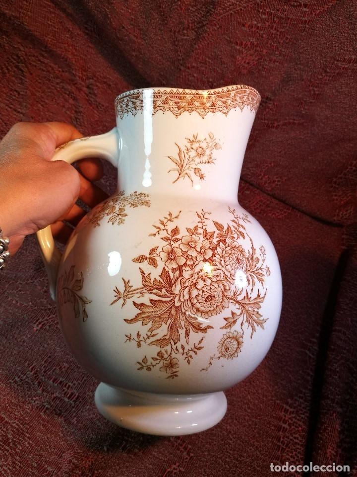 Antigüedades: jarra de agua aguamanil en porcelana holandesa societe ceramique Maestrich -dahlia bruin 1890-1910 - Foto 12 - 139752106
