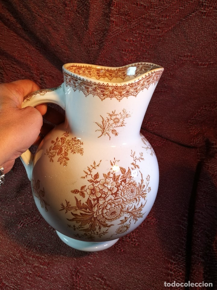 Antigüedades: jarra de agua aguamanil en porcelana holandesa societe ceramique Maestrich -dahlia bruin 1890-1910 - Foto 13 - 139752106