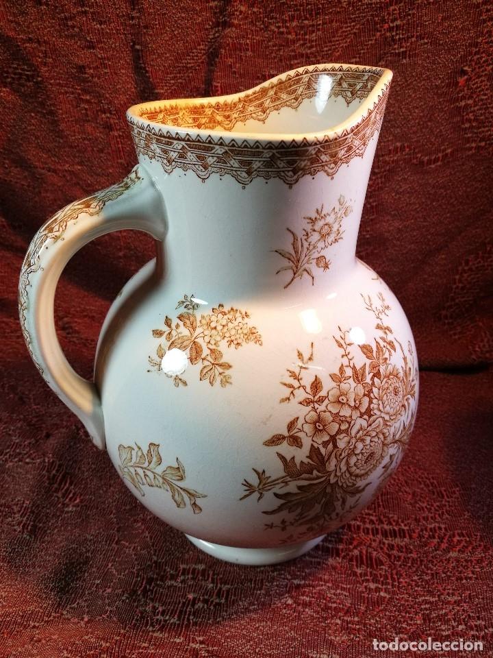 Antigüedades: jarra de agua aguamanil en porcelana holandesa societe ceramique Maestrich -dahlia bruin 1890-1910 - Foto 15 - 139752106