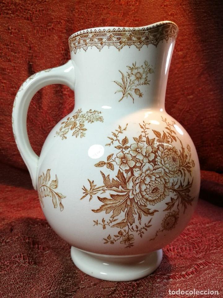 Antigüedades: jarra de agua aguamanil en porcelana holandesa societe ceramique Maestrich -dahlia bruin 1890-1910 - Foto 16 - 139752106