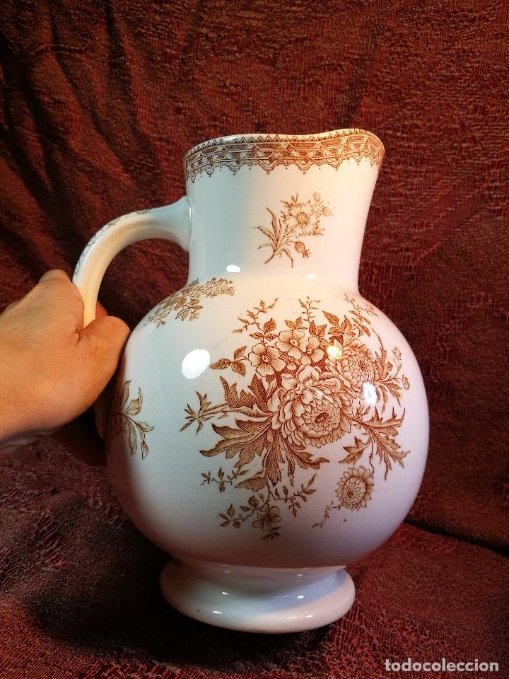 Antigüedades: jarra de agua aguamanil en porcelana holandesa societe ceramique Maestrich -dahlia bruin 1890-1910 - Foto 17 - 139752106
