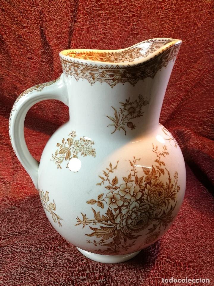 Antigüedades: jarra de agua aguamanil en porcelana holandesa societe ceramique Maestrich -dahlia bruin 1890-1910 - Foto 18 - 139752106
