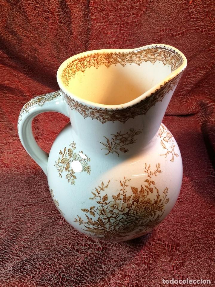 Antigüedades: jarra de agua aguamanil en porcelana holandesa societe ceramique Maestrich -dahlia bruin 1890-1910 - Foto 19 - 139752106