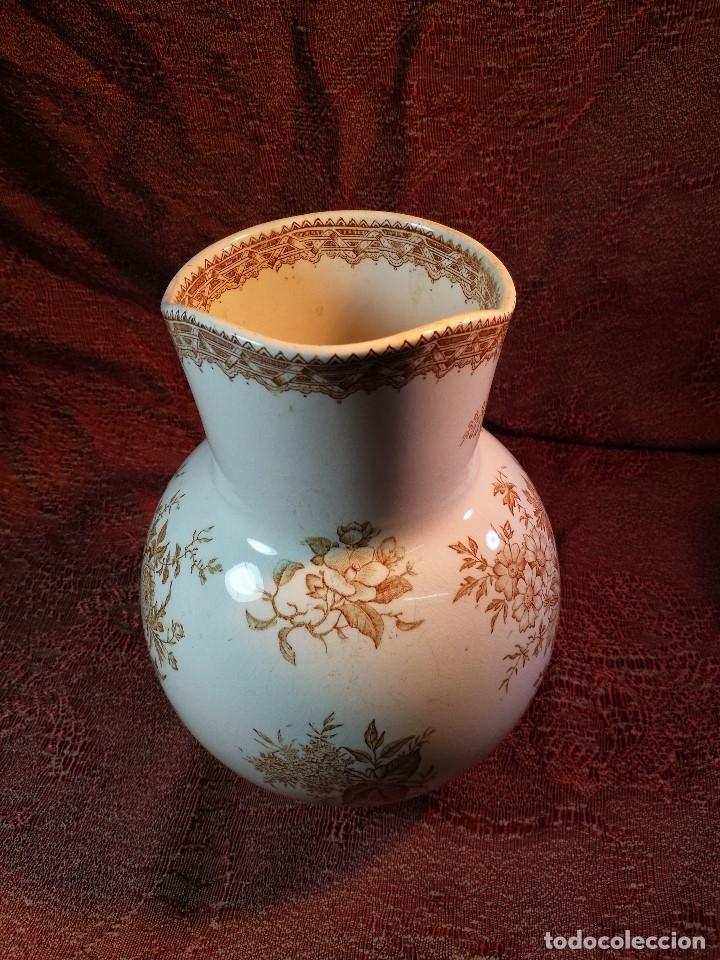 Antigüedades: jarra de agua aguamanil en porcelana holandesa societe ceramique Maestrich -dahlia bruin 1890-1910 - Foto 22 - 139752106