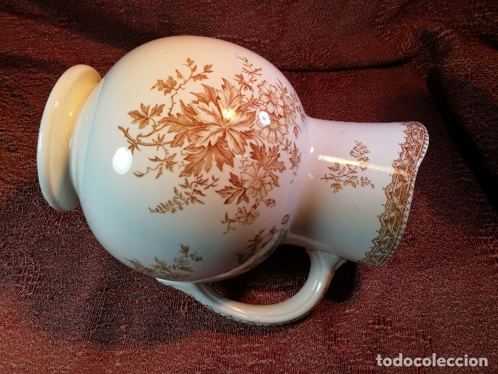 Antigüedades: jarra de agua aguamanil en porcelana holandesa societe ceramique Maestrich -dahlia bruin 1890-1910 - Foto 23 - 139752106
