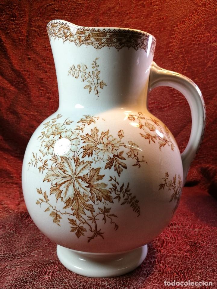 Antigüedades: jarra de agua aguamanil en porcelana holandesa societe ceramique Maestrich -dahlia bruin 1890-1910 - Foto 25 - 139752106