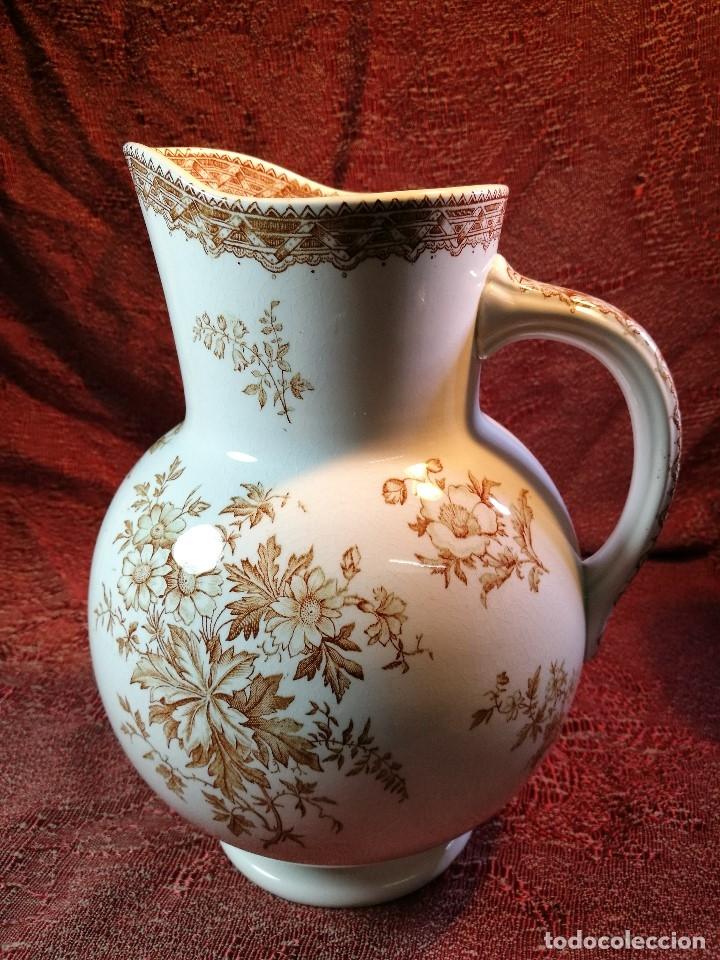 Antigüedades: jarra de agua aguamanil en porcelana holandesa societe ceramique Maestrich -dahlia bruin 1890-1910 - Foto 26 - 139752106