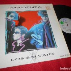 Discos de vinilo: MAGENTA LOS SALVAJES//VERSION SINGLE/MEMORIA DE ACORDES 12 MX MAXI 1985 MOVIDA POP NACHO CANO MECANO. Lote 139757634