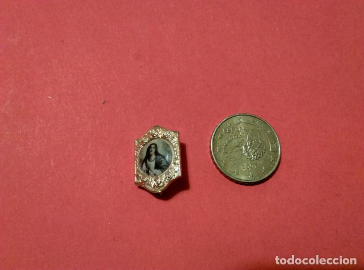 Antigüedades: antiguo pin alfiler religioso - Foto 2 - 139758758