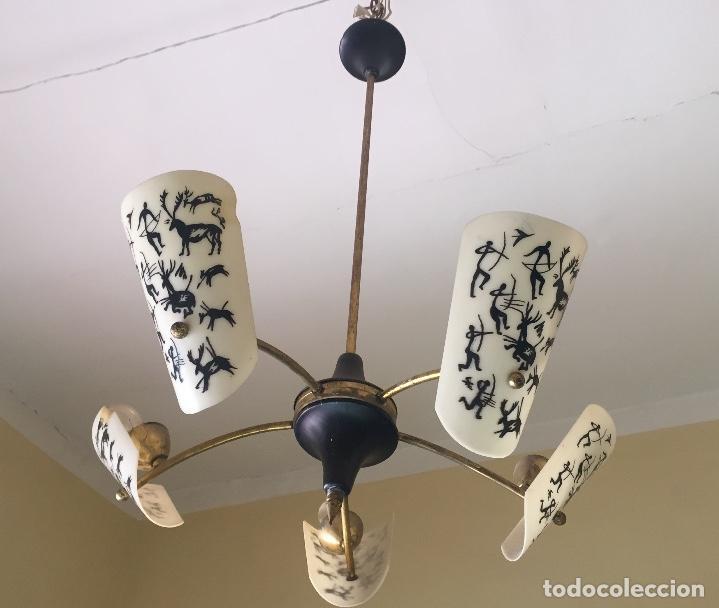 LAMPARA AÑOS 60 (Antigüedades - Iluminación - Lámparas Antiguas)