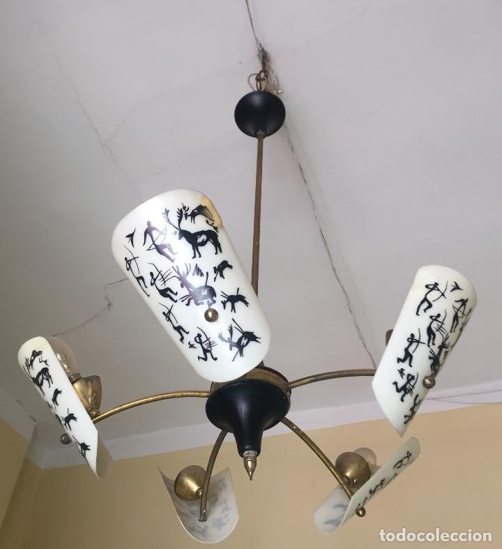Antigüedades: lampara años 60 - Foto 2 - 139768486