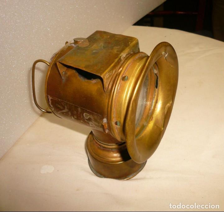 LAMPARA DE CARBURO (Antigüedades - Iluminación - Faroles Antiguos)