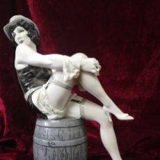Antigüedades: FIGURA MARLENE DIETRICH PORCELANA ALGORA. Lote 139780725