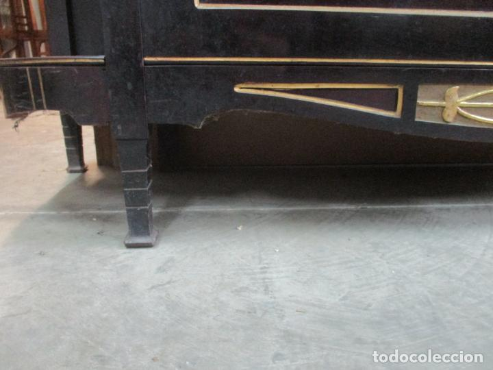 Antigüedades: Mueble Recibidor Modernista - Joan Busquets - Banco, Consola - Madera de Caoba Dorada - Gran Espejo - Foto 3 - 139784326