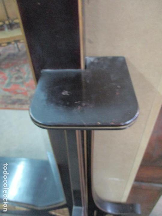 Antigüedades: Mueble Recibidor Modernista - Joan Busquets - Banco, Consola - Madera de Caoba Dorada - Gran Espejo - Foto 21 - 139784326