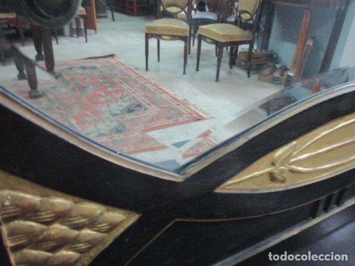 Antigüedades: Mueble Recibidor Modernista - Joan Busquets - Banco, Consola - Madera de Caoba Dorada - Gran Espejo - Foto 23 - 139784326