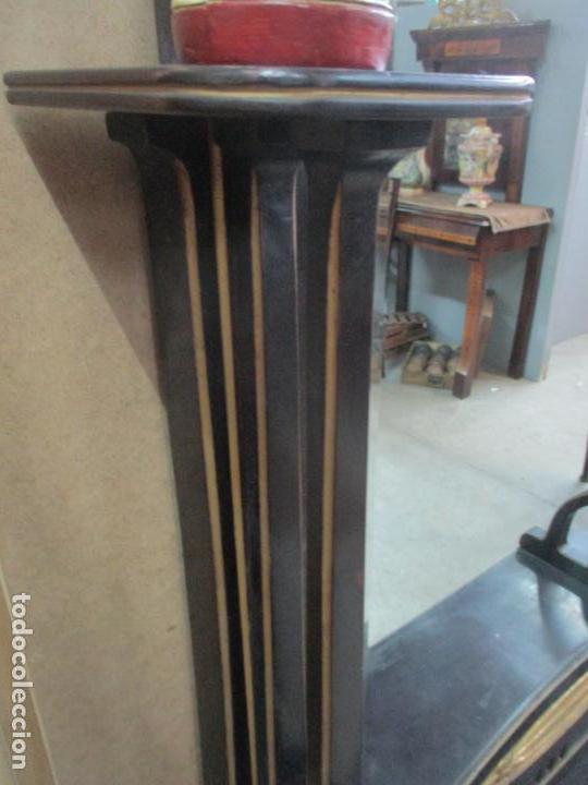 Antigüedades: Mueble Recibidor Modernista - Joan Busquets - Banco, Consola - Madera de Caoba Dorada - Gran Espejo - Foto 24 - 139784326