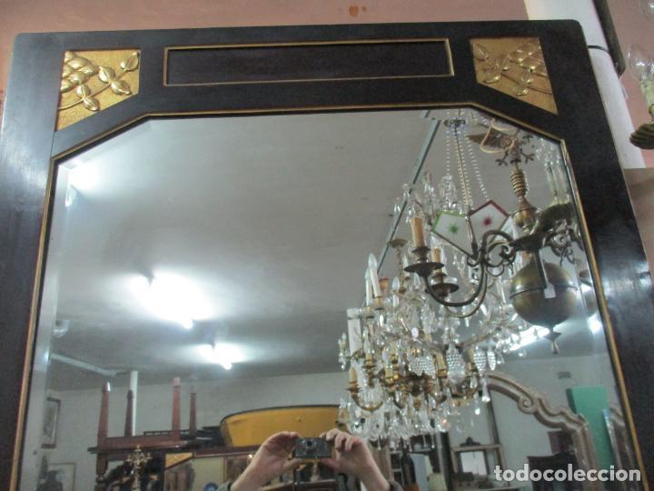 Antigüedades: Mueble Recibidor Modernista - Joan Busquets - Banco, Consola - Madera de Caoba Dorada - Gran Espejo - Foto 25 - 139784326
